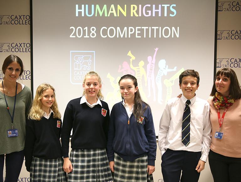 Competición sobre los Derechos Humanos en Caxton College